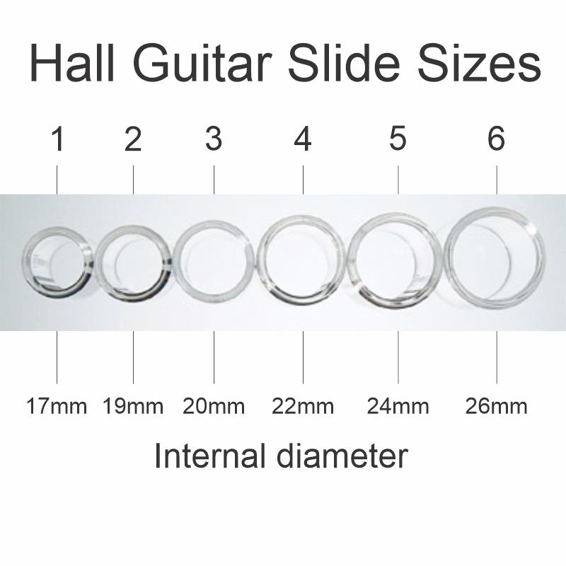 Guitar Slide Sizes